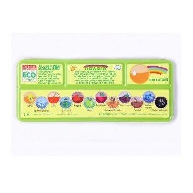 ökoNORM vandeniniai dažai metalinėje dėžutėje (12 spalvų) 3