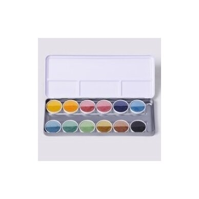 ökoNORM vandeniniai dažai metalinėje dėžutėje (12 spalvų)