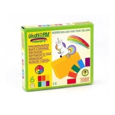 """ökoNORM spalvoti vaško blokeliai ,,Unicorn"""" (6 spalvos) 3"""