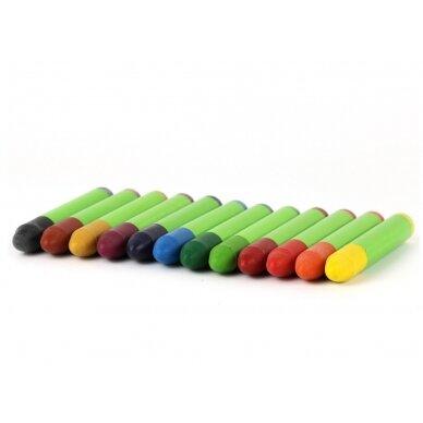 ökoNORM vaško kreidelės (12 spalvų)