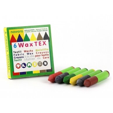 ökoNORM vaško kreidelės natūralios tekstilės gaminiams (6 spalvos) 2
