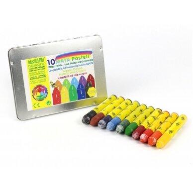ökoNORM spalvotos aliejinės-vaško kreidelės (10 spalvų) 3