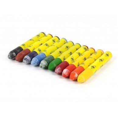 ökoNORM spalvotos aliejinės-vaško kreidelės metalinėje dėžutėje (10 spalvų)