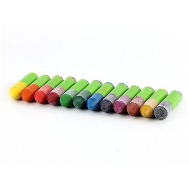 ökoNORM spalvotos bičių vaško kreidelės medinėje dėžutėje (12 spalvų) 2