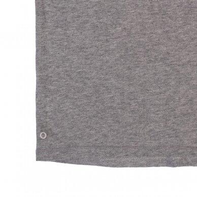 """Orbasics marškinėliai ,,Grey melange"""" 2"""