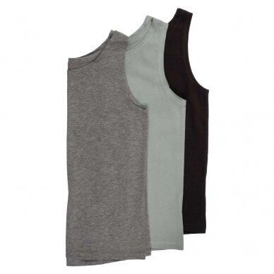 """Orbasics marškinėliai ,,Grey melange"""" 3"""
