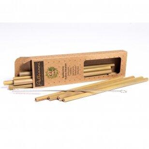 Pellianni daugkartiniai bambukiniai šiaudeliai