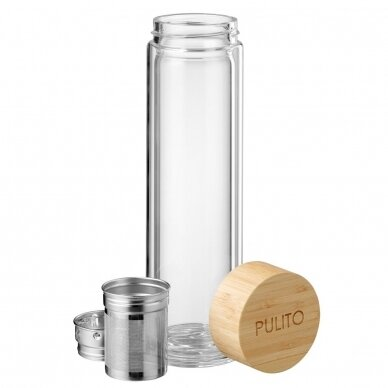 """Pulito stiklinė gertuvė arbatai su sieteliu ,,Pure tea mug"""" (500 ml) 5"""