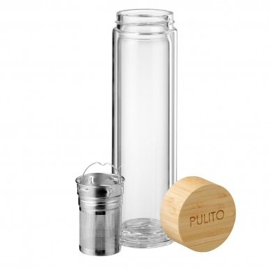 """Pulito stiklinė gertuvė arbatai su sieteliu ,,Pure tea mug"""" (500 ml) 2"""