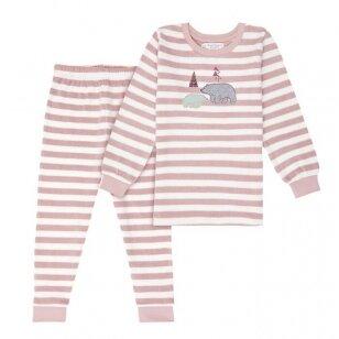 """Sense Organics kilpinio audinio pižama ,,Rose stripes"""""""