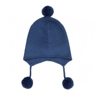 "Sense Organics megzta kepurė ,,Saphire blue"""