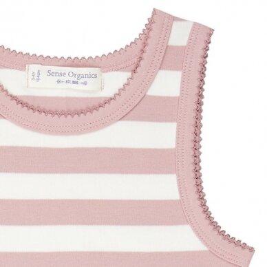 """Sense Organics apatiniai marškinėliai ,,Rose stripes"""" 2"""