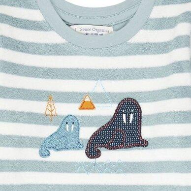 "Sense Organics kilpinio audinio pižama ,,Aqua stripes"" 4"