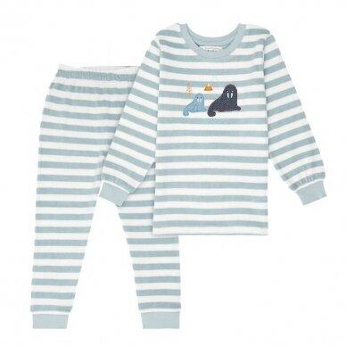 "Sense Organics kilpinio audinio pižama ,,Aqua stripes"""