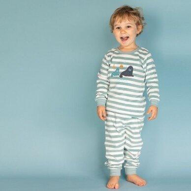 "Sense Organics kilpinio audinio pižama ,,Aqua stripes"" 2"