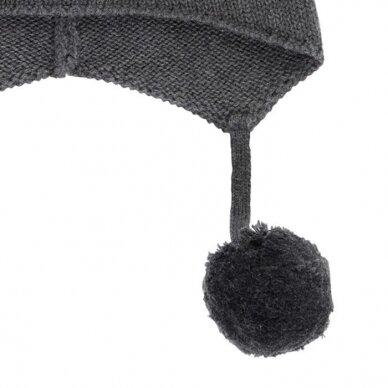 "Sense Organics megzta kepurė ,,Anthracite"" 2"