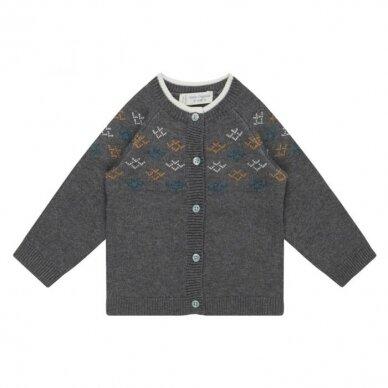 "Sense Organics megztinis ,,Dark grey pattern"""