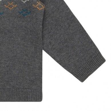 "Sense Organics megztinis ,,Dark grey pattern"" 3"