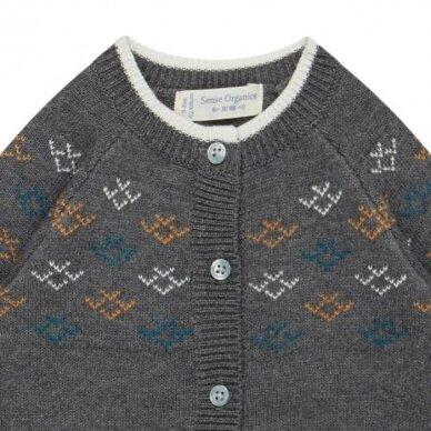 "Sense Organics megztinis ,,Dark grey pattern"" 2"