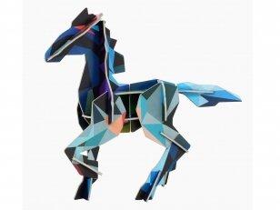 "Studio ROOF 3D totemas iš perdirbto kartono ,,Frysk horse"""