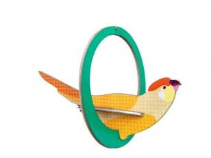 "Studio ROOF pop-out atvirukas ,,Swinging parakeets"""