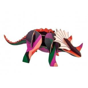 "Studio ROOF 3D figūrėlė iš perdirbto kartono ,,Triceratops"""