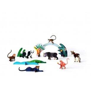 """Studio ROOF perdirbto kartono rinkinys  žaidimams ,,Jungle animals"""""""