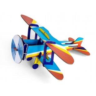"Studio ROOF popierinis 3D lėktuvas ,,Biplane"""