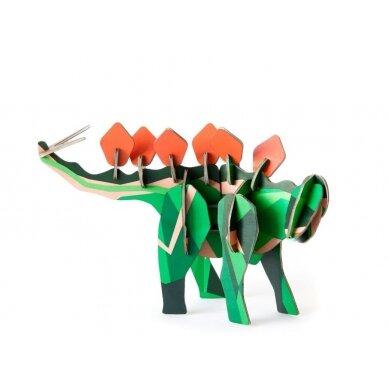 """Studio ROOF 3D totemas iš perdirbto kartono ,,Stegosaurus"""""""