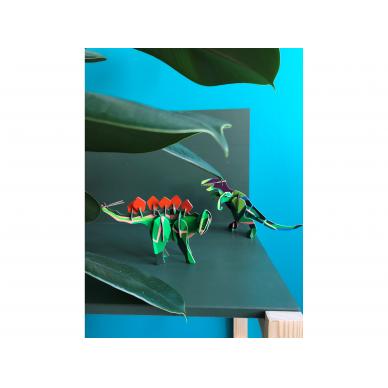 """Studio ROOF 3D totemas iš perdirbto kartono ,,Stegosaurus"""" 2"""