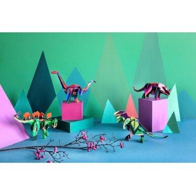 """Studio ROOF 3D totemas iš perdirbto kartono ,,Stegosaurus"""" 3"""
