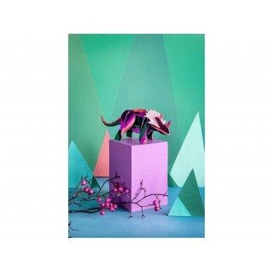 "Studio ROOF 3D figūrėlė iš perdirbto kartono ,,Triceratops"" 3"