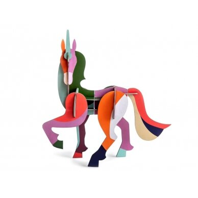 "Studio Roof 3D figūrėlė iš perdirbto kartono ,,Giant unicorn"""