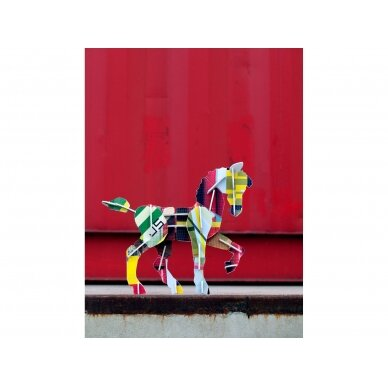 "Studio ROOF 3D totemas iš perdirbto kartono ,,Horse"" 2"