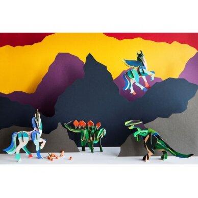 """Studio ROOF 3D totemas iš perdirbto kartono,,T-rex"""" 2"""