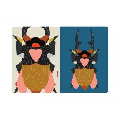 """Studio ROOF eskizų knyga ,,Giant stag beetle"""" (A4) 3"""