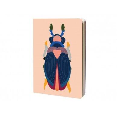 """Studio ROOF eskizų knyga ,,Japanese beetle"""" (A4) 2"""