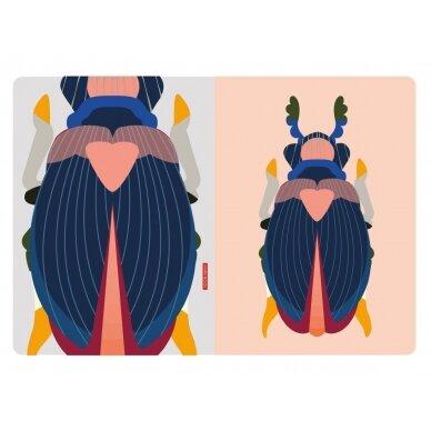 """Studio ROOF eskizų knyga ,,Japanese beetle"""" (A4) 3"""