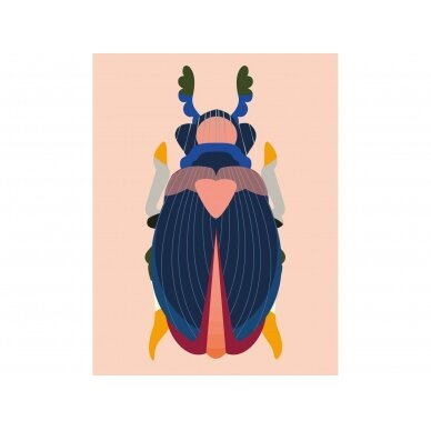 """Studio ROOF eskizų knyga ,,Japanese beetle"""" (A4)"""