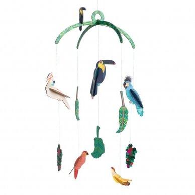 "Studio ROOF kabanti dekoracija ,,Exotic birds"""