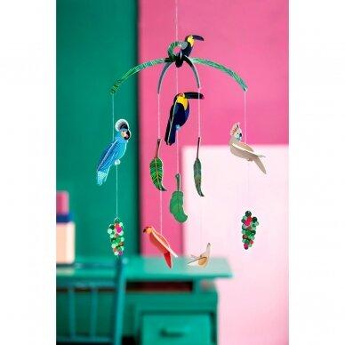"Studio ROOF kabanti dekoracija ,,Exotic birds"" 2"