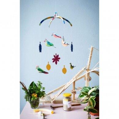 """Studio ROOF kabanti dekoracija ,,Garden birds"""" 2"""