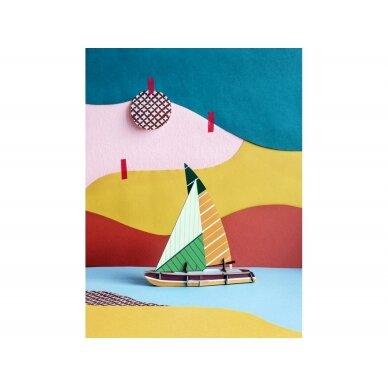 """Studio ROOF popierinis laivas ,,Sailboat"""" 2"""