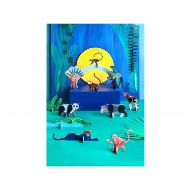 """Studio ROOF perdirbto kartono rinkinys  žaidimams ,,Jungle animals"""" 3"""