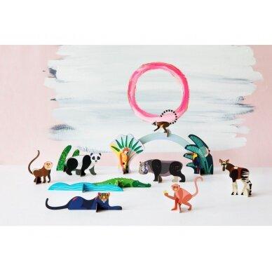 """Studio ROOF perdirbto kartono rinkinys  žaidimams ,,Jungle animals"""" 2"""