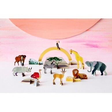 Studio ROOF perdirbto kartono rinkinys žaidimams ,,Savanna animals' 2
