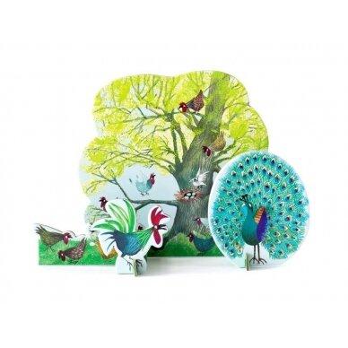 "Studio ROOF pop-out atvirukas ,,Chicken tree"""