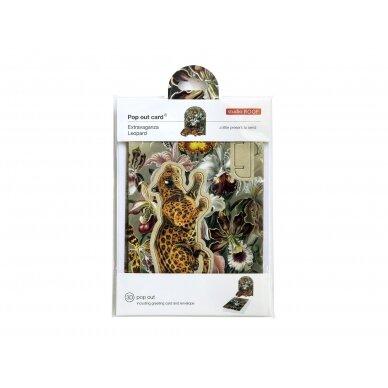 "Studio ROOF pop-out atvirukas ,,Extravaganza: leopard"" 2"