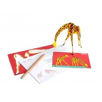"""Studio ROOF pop-out atvirukas ,,Giraffe"""" 2"""