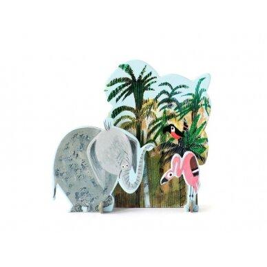 "Studio ROOF pop-out atvirukas ,,Jungle elephant"""